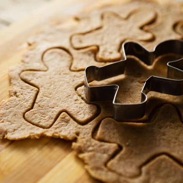 gingerbread dough and cutting mould